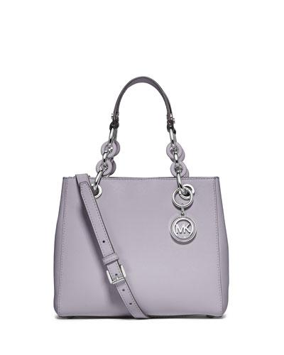 6f5d0cd3f4334f MICHAEL Michael Kors Cynthia Small Saffiano Satchel Bag, Lilac