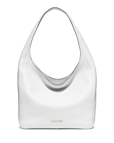 Lena Large Shoulder Bag, Optic White