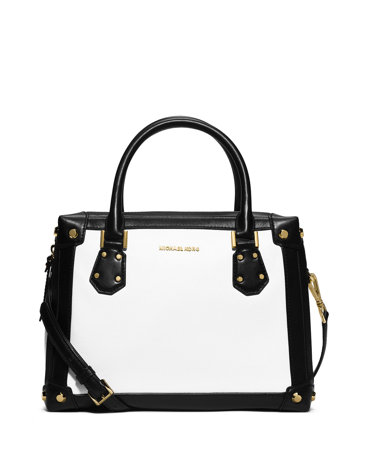 MICHAEL Michael Kors Taryn Medium Two-Tone Satchel Bag 041f31f68e412
