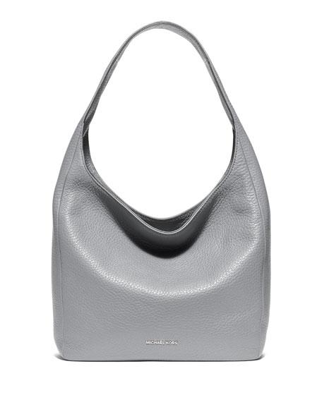 MICHAEL Michael Kors Lena Large Leather Shoulder Bag, Dove