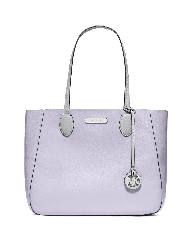 585167ca96e431 MICHAEL Michael Kors Mae Large Bicolor Tote Bag, Dove/Lilac | Neiman ...