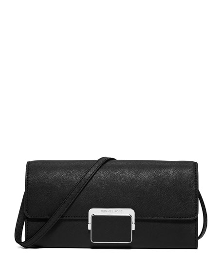 MICHAEL Michael Kors Cynthia Large Evening Clutch Bag, Black