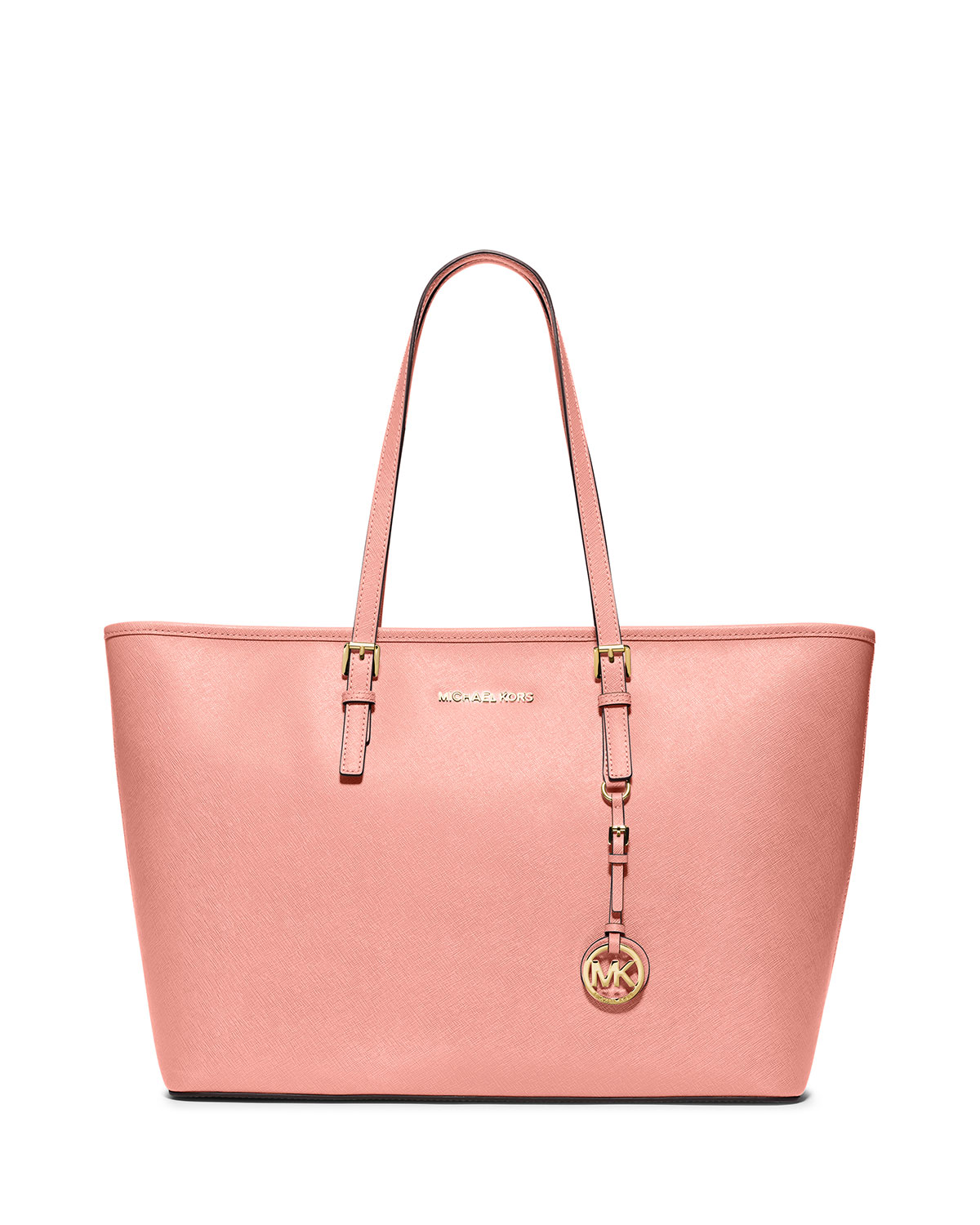 92461a63f7705e MICHAEL Michael Kors Jet Set Travel Medium Saffiano Multi-Function Tote Bag,  Pale Pink