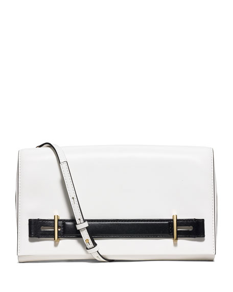 MICHAEL Michael Kors Chelsey Two-Tone Large Evening Clutch