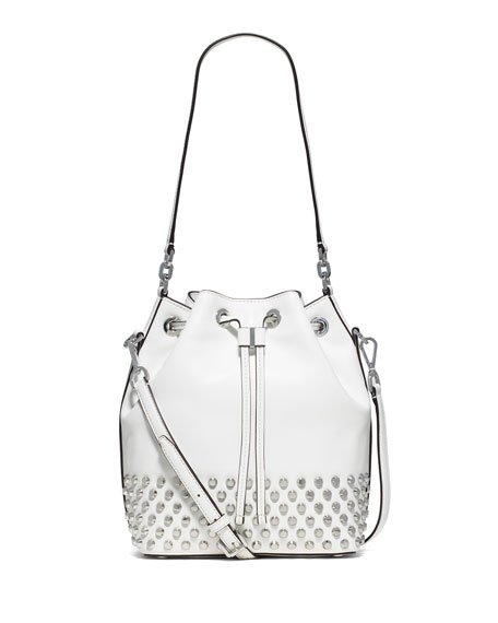 MICHAEL Michael Kors Dottie Studded Leather Large Bucket