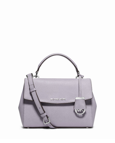 michael michael kors ava small saffiano leather satchel bag  lilac