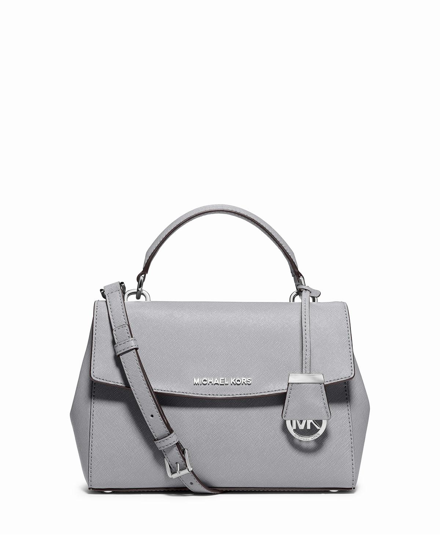4ecb08ff7373 MICHAEL Michael Kors Ava Small Saffiano Leather Satchel Bag, Dove ...