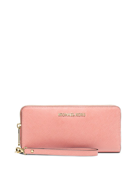 MICHAEL Michael Kors Jet Set Travel Continental Wallet, Pale Pink