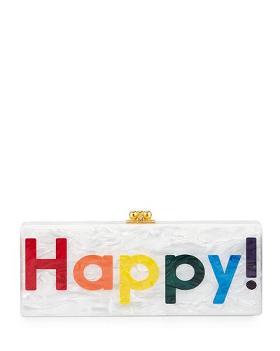 Flavia Happy Box Clutch, White