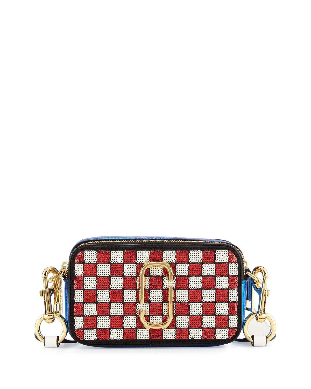 27bac37f13b6 Marc Jacobs Snapshot Sequins Checker Small Camera Bag