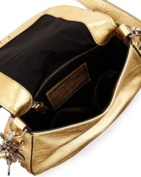 Charms & Trinkets Small Saddle Bag, Gold