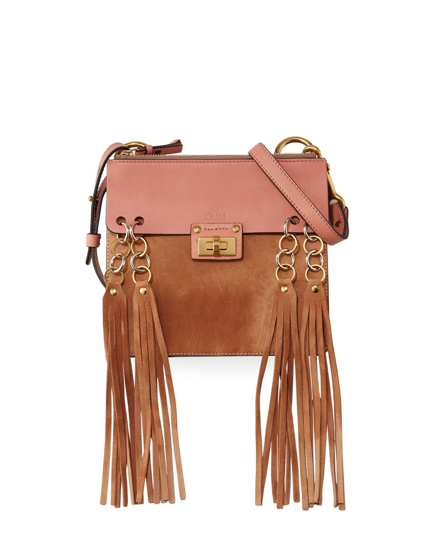 469f66240c Chloe Jane Tassel-Trim Leather Crossbody Bag, Rose   Neiman Marcus