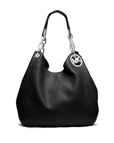 Fulton Large Leather Shoulder Tote Bag