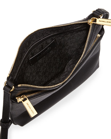 Riley Small Leather Crossbody Bag Black