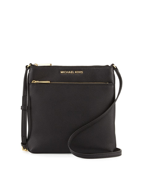 Riley Small Leather Crossbody Bag, Black