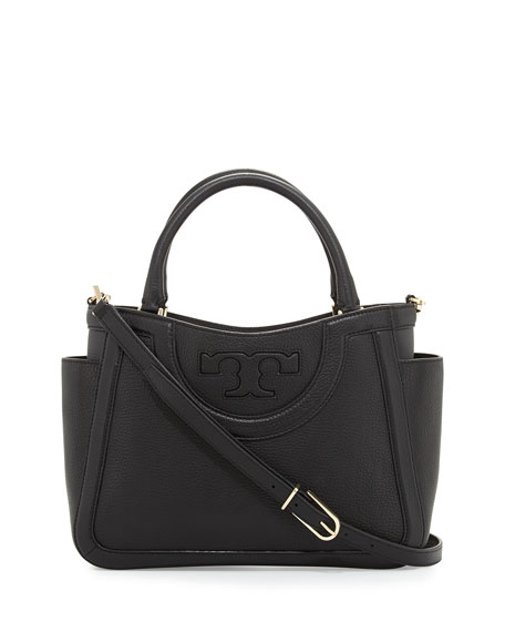 Tory Burch Serif T Small Satchel Bag, Black