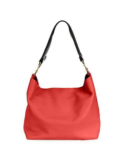 Twist Small Hobo Bag w/Guitar Strap, Red