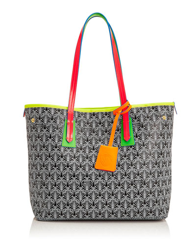 Marlborough Limited Edition Iphis Printed Canvas Tote Bag, Neon