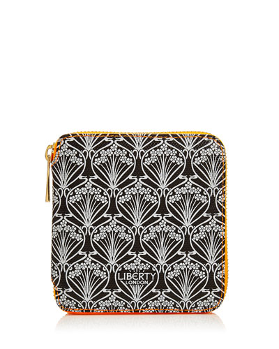 Neon Small Iphis Printed Zip-Around Wallet