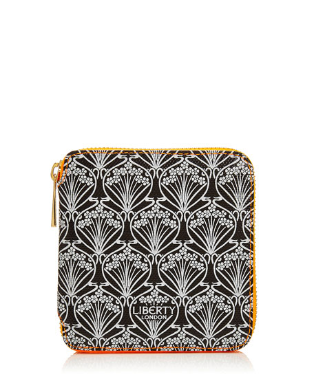 Liberty London Neon Small Iphis Printed Zip-Around Wallet