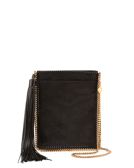 Stella McCartney Falabella Fringe Tassel Crossbody, Black