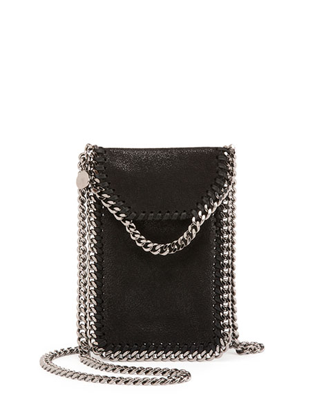 Stella Mccartney Crossbody Bag Phone Holder W Chain Trim Black Neiman Marcus