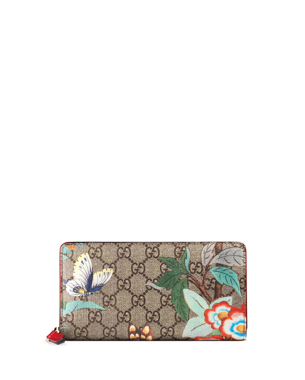 792d8100035 Gucci Tian GG Supreme Zip Wallet