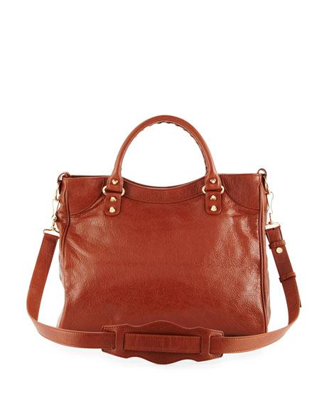Classic Gold Velo AJ Leather Bag