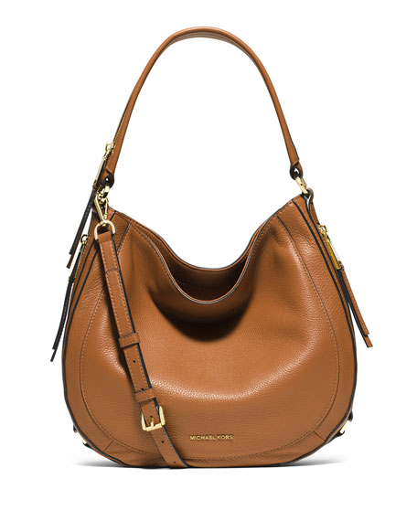 MICHAEL Michael Kors Julia Medium Leather Convertible Shoulder Bag ...