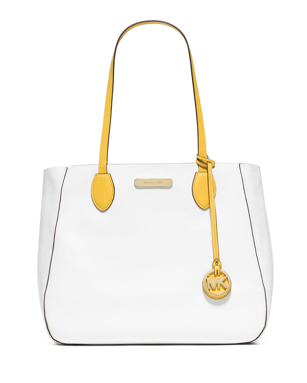 20c5472e9d0368 MICHAEL Michael Kors Mae Large Reversible Bicolor Tote Bag, Sunflower/White