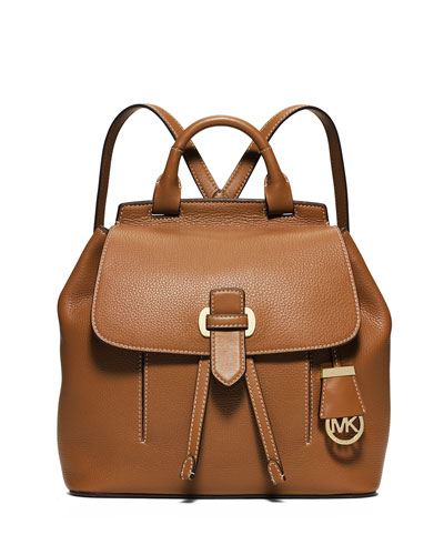 fadcb2f43744 MICHAEL Michael Kors Romey Medium Leather Backpack, Acorn