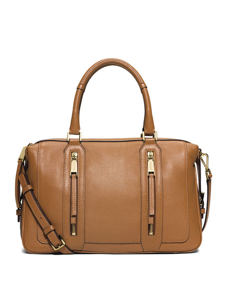 MICHAEL Michael KorsJulia Large Leather Satchel Bag, Acorn
