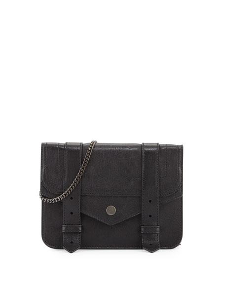 Proenza Schouler Large Lambskin Chain Wallet, Black
