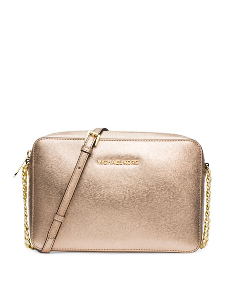Jet Set Travel Large Crossbody Bag, Pale Gold
