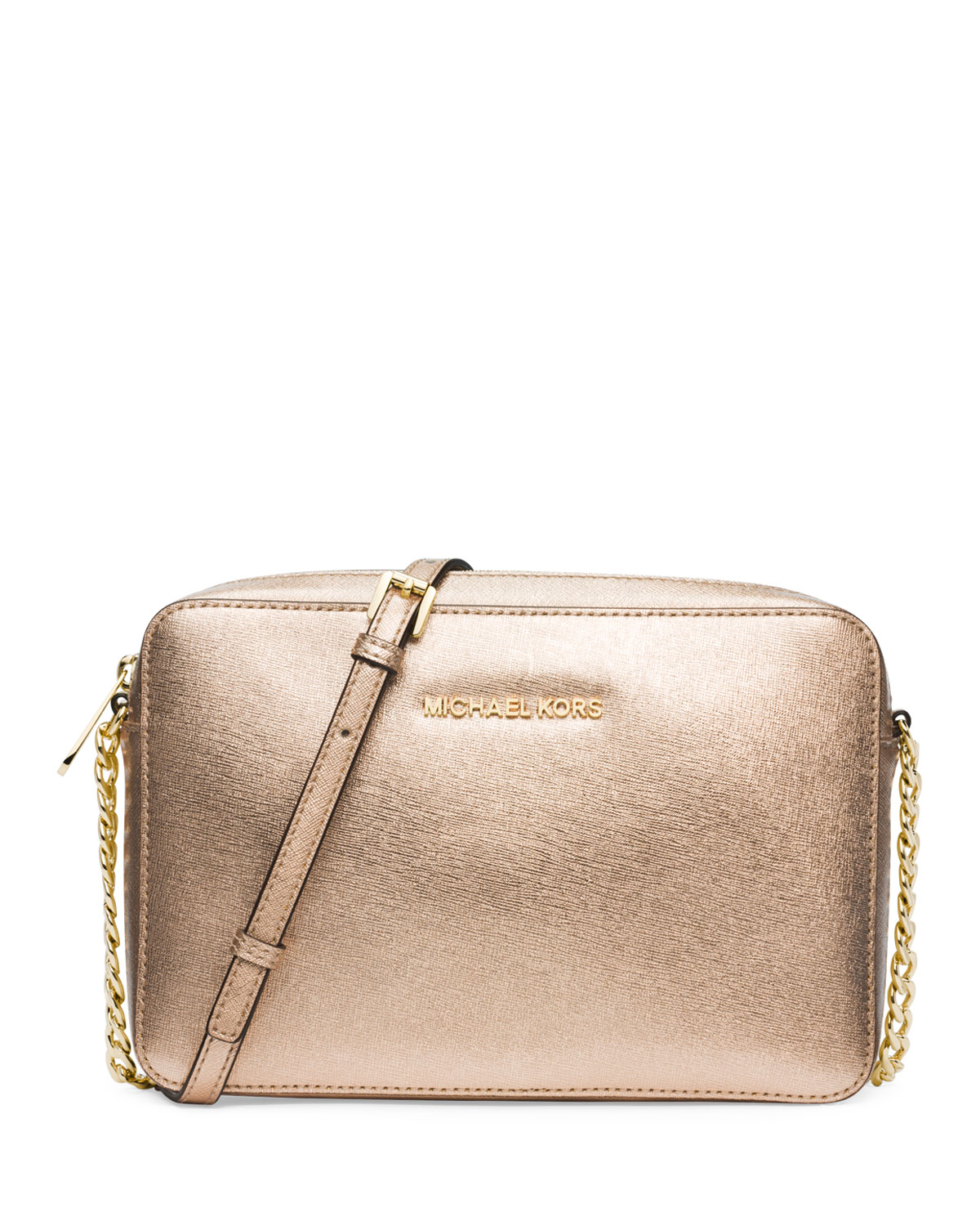 4289dd31350c MICHAEL Michael Kors Jet Set Travel Large Crossbody Bag, Pale Gold ...