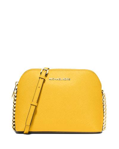266fa6ed5021 MICHAEL Michael Kors Cindy Large Dome Crossbody Bag, Sunflower
