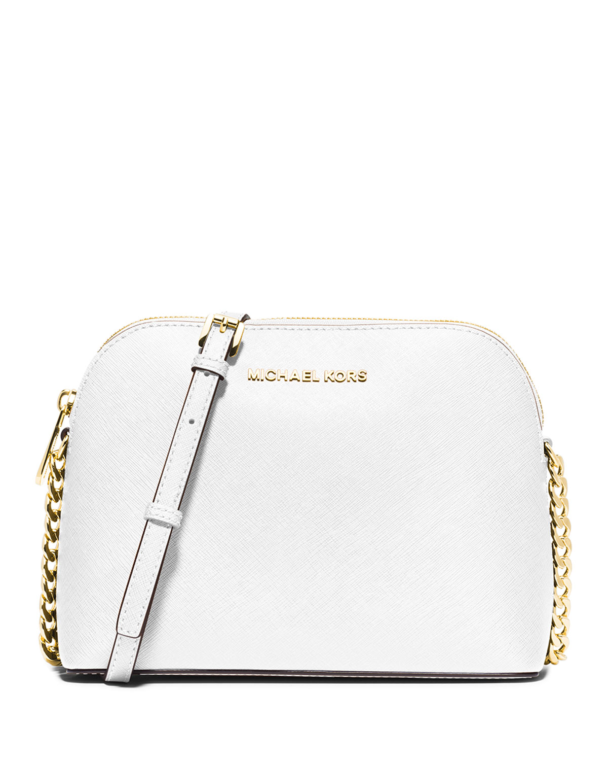 6f33dfa32467 MICHAEL Michael Kors Cindy Large Dome Crossbody Bag, Optic White ...