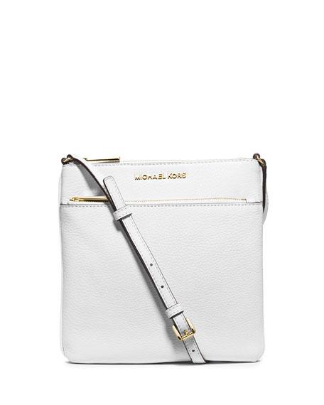 MICHAEL Michael Kors Riley Leather Crossbody Bag, Optic White