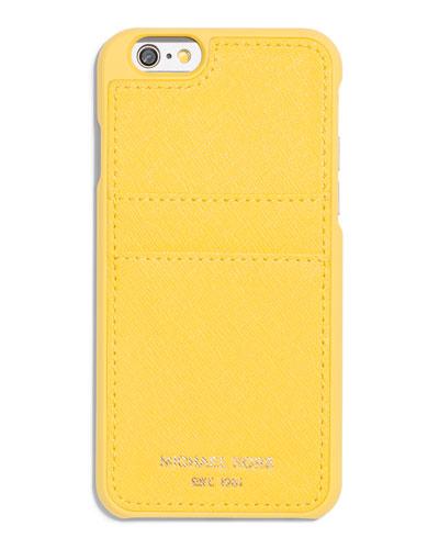 Saffiano iPhone 6 Case w/ Pocket, Sunflower