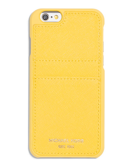 Saffiano iPhone 6 Case w/ Pocket, Sunflower