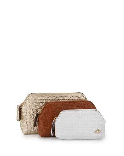 DVF Love Triplet Basket-Weave Set, Gold/Tan/White