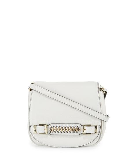 Diane von Furstenberg Stevie Leather Saddle Bag, Optic