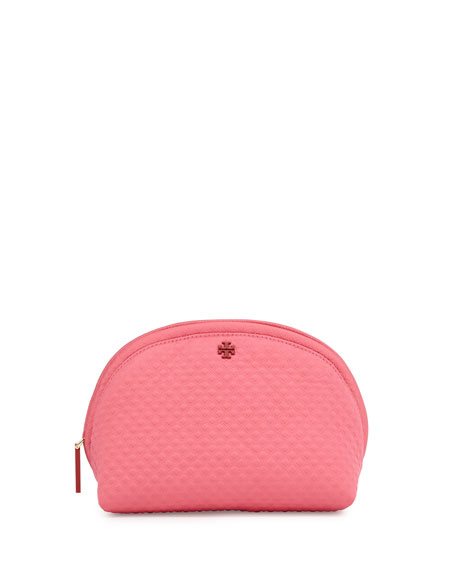 Tory Burch Beach Neoprene Rounded Cosmetic Case, Fiesta