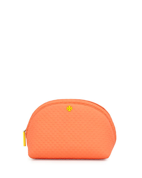 Beach Neoprene Rounded Cosmetic Case, Orange