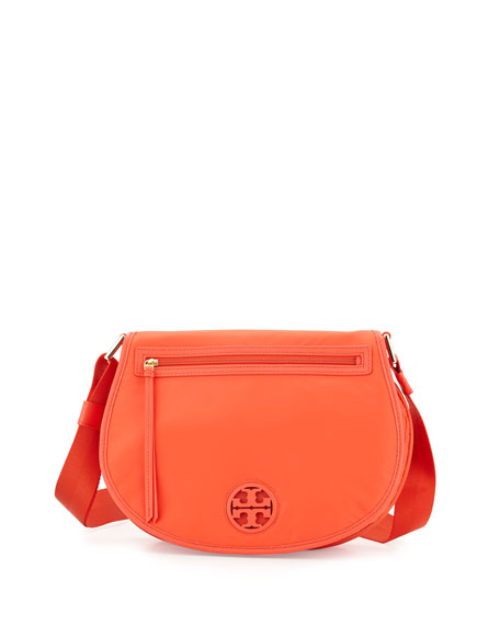 Tory Burch Nylon Messenger Bag, Poppy Red