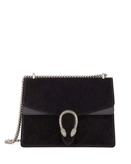 Gucci Dionysus Suede Shoulder Bag, Black