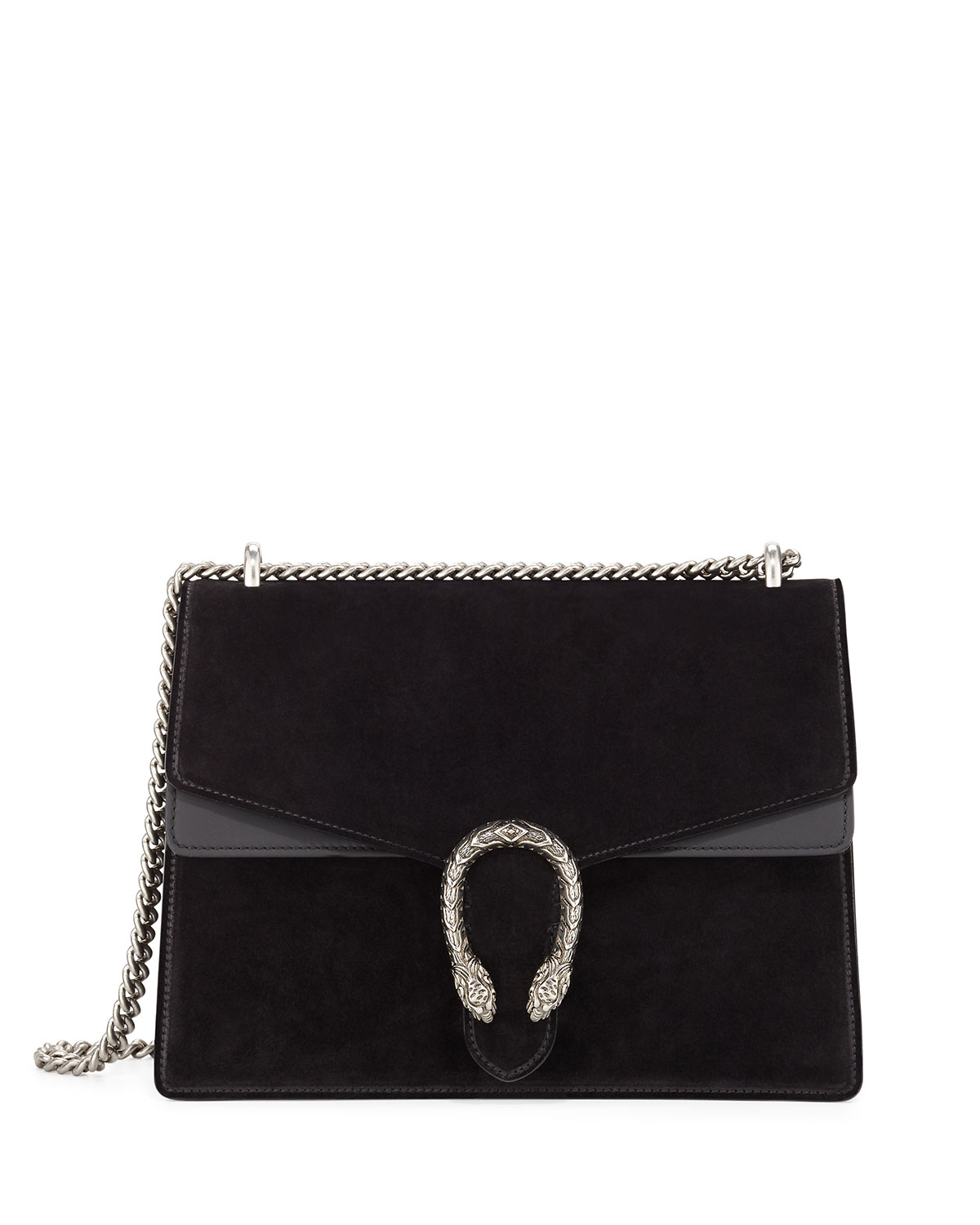 Dionysus Suede Shoulder Bag Black