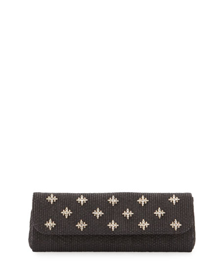 Badgley Mischka Florentine Embellished Evening Clutch Bag, Black