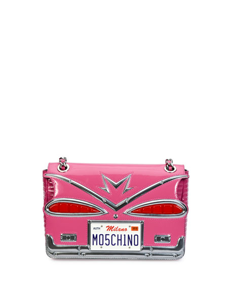 Moschino Tail Lights Quilted Shoulder Bag, Pink
