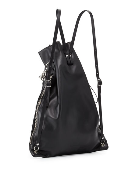 Attica Chain Gym Sack Bag w/Snaps, Black